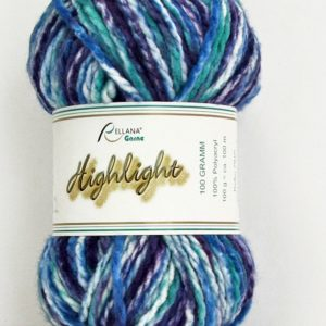 Highlight-Garn in lila-blau