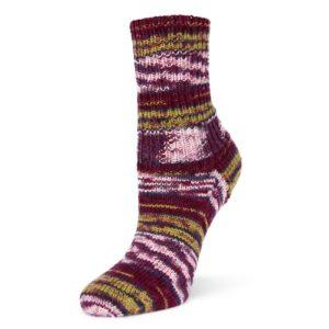 Flotte Socke 4fädig - Wool Free Smilla - bordeaux-erika-loden