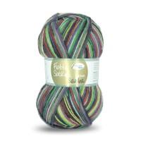 Flotte Socke 4fädig, Samba lachs-grau-gelb-grün