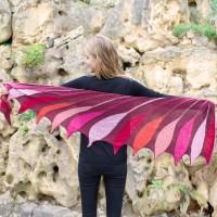 Regenbogen Mirage Scarlet ibis - Dreieckstuch