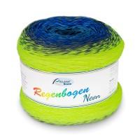 Regenbogen Neon blau-neongelb Bobbel