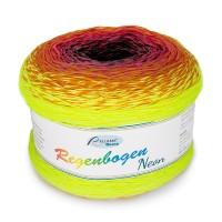 Regenbogen Neon grau-orange-neongelb Bobbel