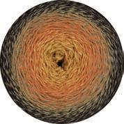 Twisted Merino Cotton gelb-orange-beige-schwarzbraun, 200g