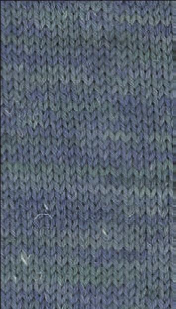 Slow Wool Canapa hand dyed Tintenblau-Petrol-Türkisgrün