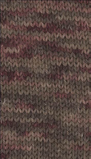 Slow Wool Canapa hand dyed Braunrot-Burgund-Graubraun